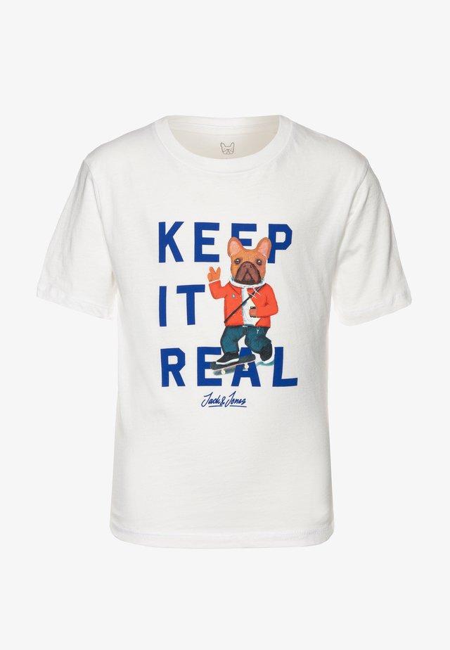 JORFRENCHIE CREW NECK - T-shirt med print - cloud dancer