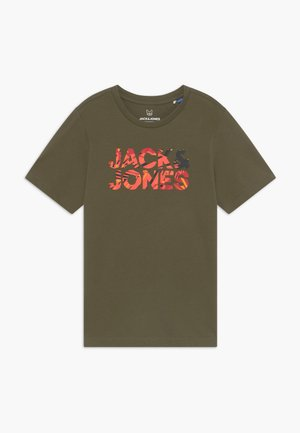 JORFLIPFLOP TEE CREW NECK - T-shirt med print - olive night
