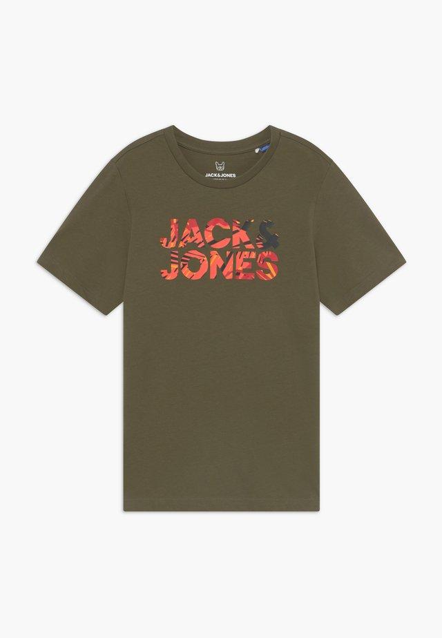 JORFLIPFLOP TEE CREW NECK - T-shirt med print - olive night