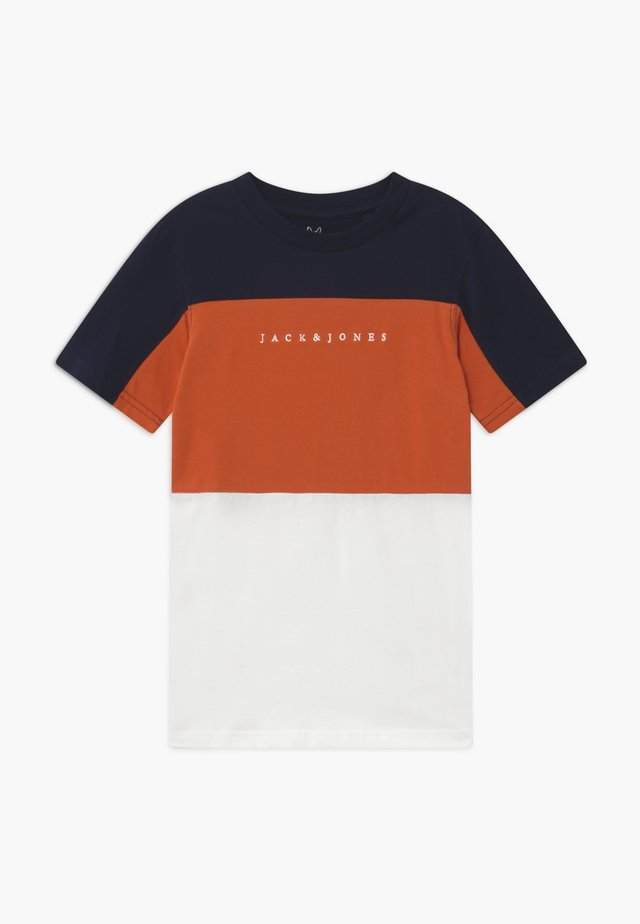JORPRO TEE CREW NECK - T-Shirt print - burnt ochre