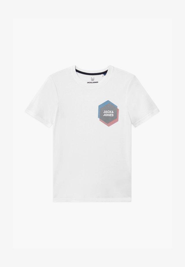 JCOCOOL CREW NECK - T-shirt print - white