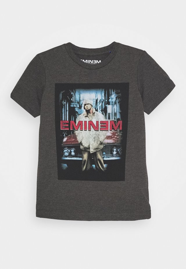 JCOEMINEM VINTAGE TEE CREW NECK - T-shirts med print - dark grey melange