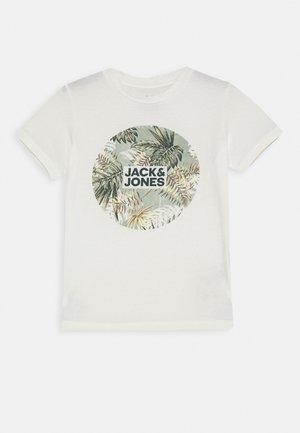 JORELI TEE CREW NECK - T-shirt print - cloud dancer