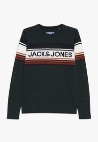 Jack & Jones Junior - JORPEAK KNIT CREW NECK - Strikkegenser - sea moss - 0