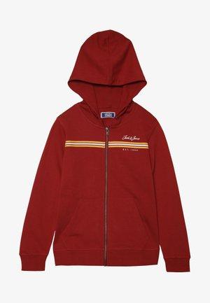JORDAVIS ZIP HOOD - veste en sweat zippée - brick red