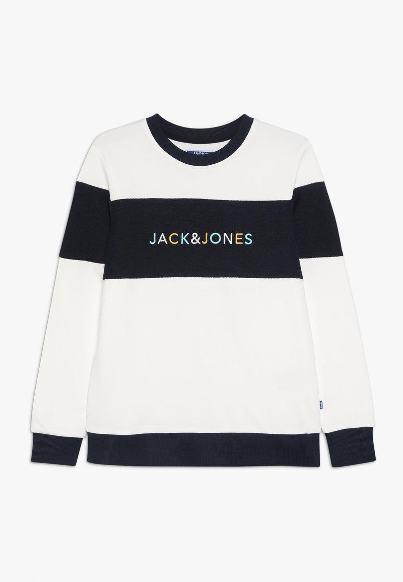 Jack & Jones Junior - JORALBAS CREW NECK JUNIOR - Sweatshirt - cloud dancer