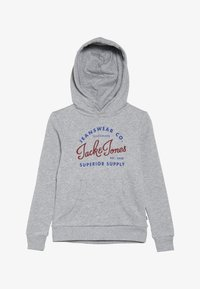 Jack & Jones Junior - JJELOGO SWEAT HOOD 2 COL NOOS JR - Mikina s kapucí - light grey melange - 3