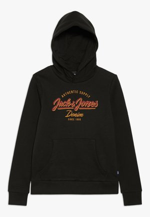 JJELOGO - Jersey con capucha - black