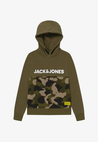 Jack & Jones Junior - JCOLUDO HOOD - Hoodie - winter moss - 2