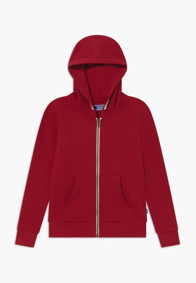 JJEHOLMEN ZIP HOOD - Collegetakki - rio red