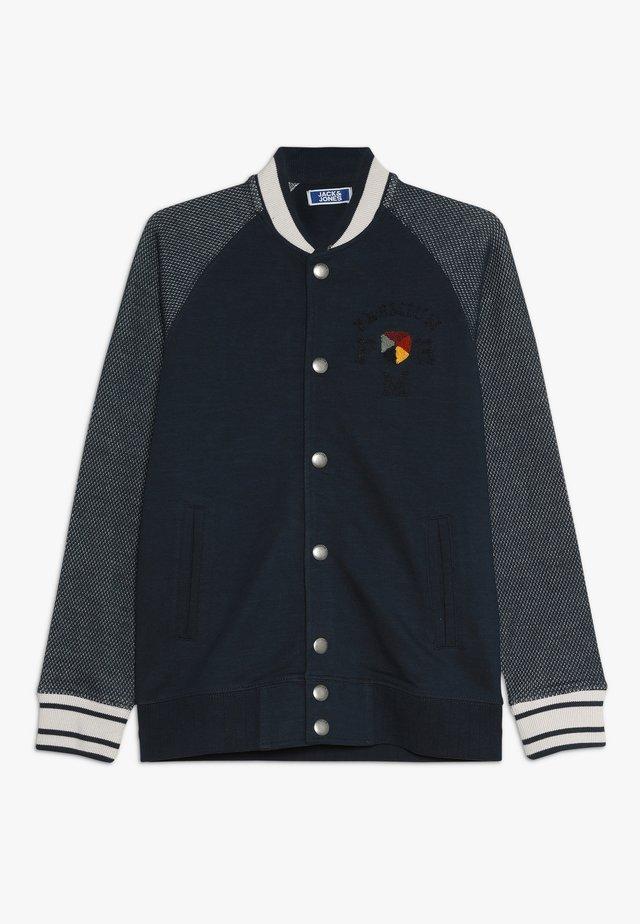 JPRCARTER BOMBER JUNIOR - Huvtröja med dragkedja - navy blazer