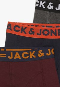 Jack & Jones Junior - JACLICHFIELD TRUNKS JUNIOR 3 PACK - Shorty - dark grey melange/burgundy/navy blazer - 4