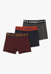 Jack & Jones Junior - JACLICHFIELD TRUNKS JUNIOR 3 PACK - Shorty - dark grey melange/burgundy/navy blazer - 0