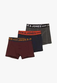 Jack & Jones Junior - JACLICHFIELD TRUNKS JUNIOR 3 PACK - Shorty - dark grey melange/burgundy/navy blazer - 3