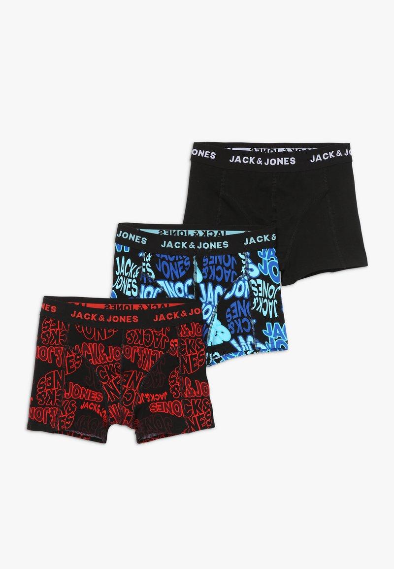 Jack & Jones Junior - JACLUCAS TRUNKS JUNIOR 3 PACK - Panties - fiery red/blue fish/black