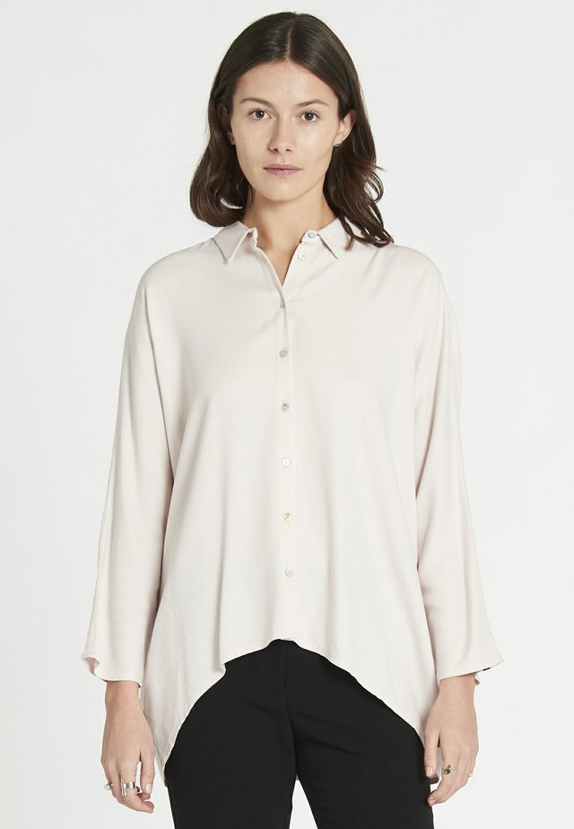 Button-down blouse - powder