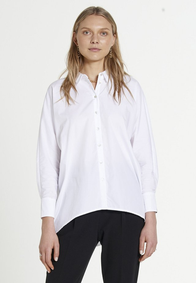 BON SOIR - Button-down blouse - white