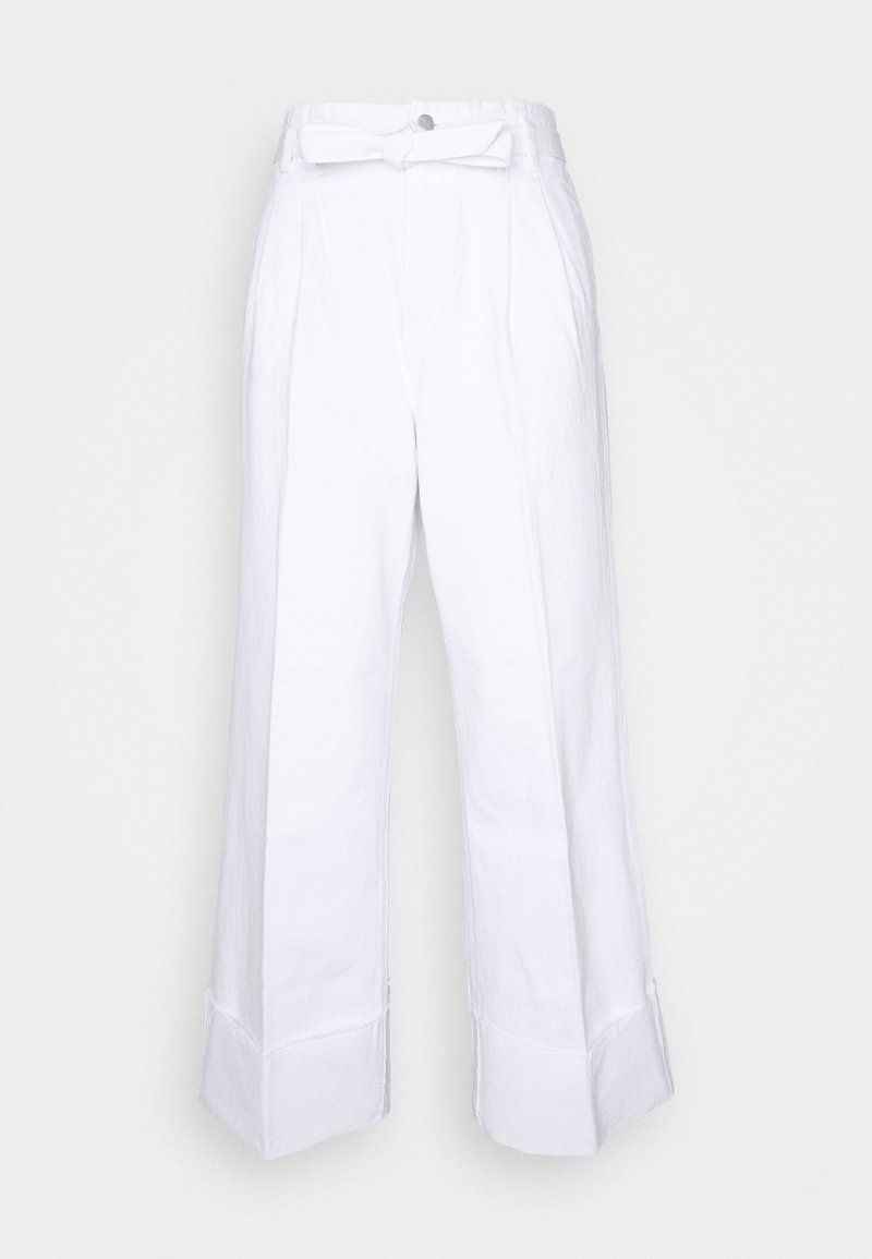 J Brand - LOUISA HIGH RISE TIE WAIST PANT - Flared jeans - white