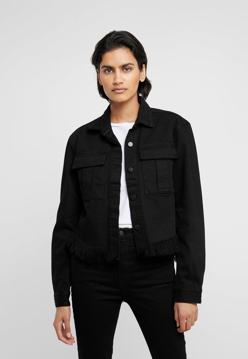 J Brand - FRAY SHANNAH JACKET - Džínová bunda - black