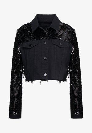 CROPPED CYRA JACKET - Džínová bunda - black