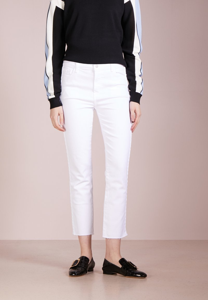 J Brand - RUBY - Jeans Slim Fit - braided blanc