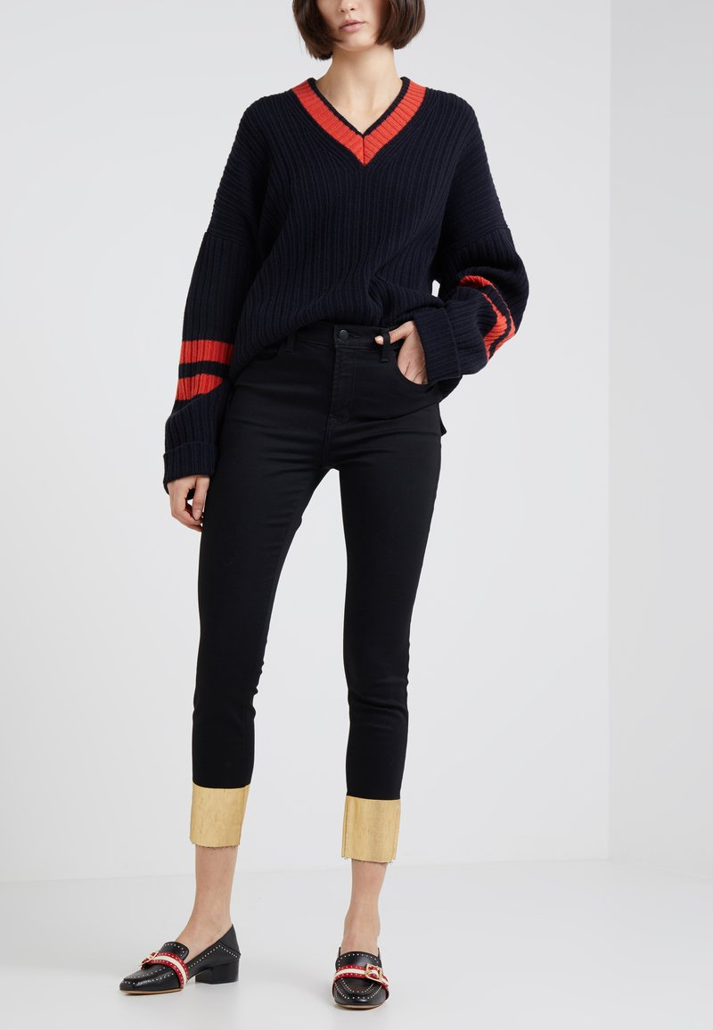 J Brand - RAW ALANA HIGH RISE CROPPED - Jeans Skinny - gold pool
