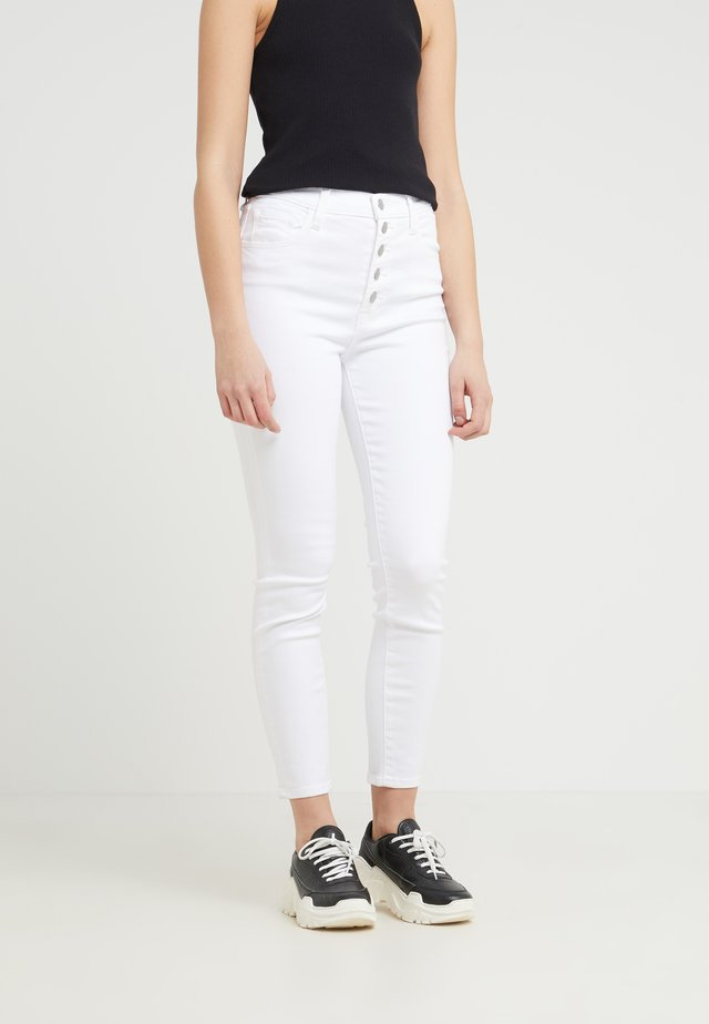 LILLIE CROP - Jeans Skinny Fit - white
