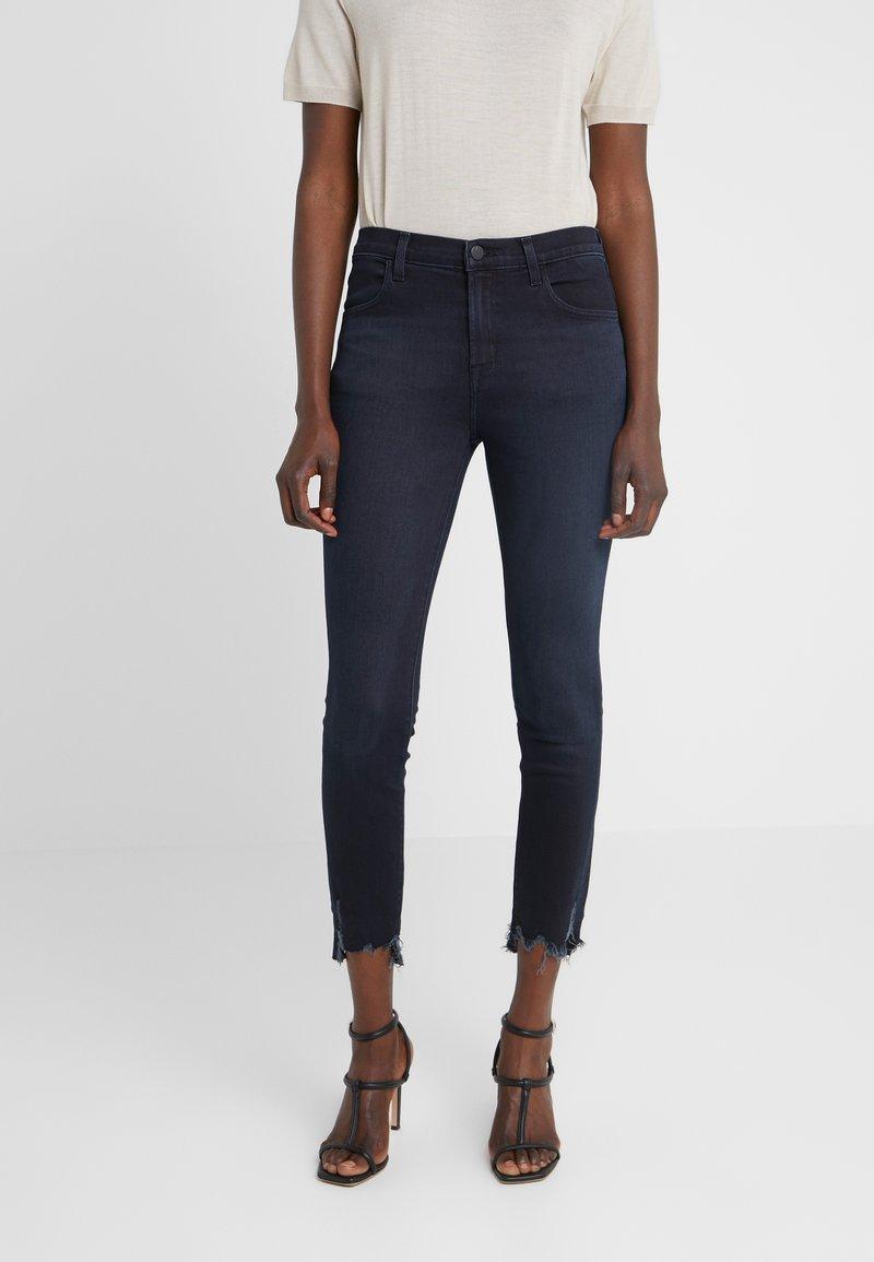J Brand - ALANA HIGH RISE - Skinny džíny - abstract destruct