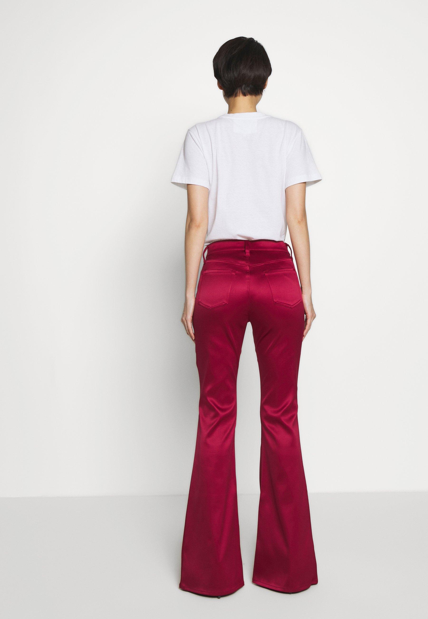 J Brand VALENTINA FLARE - Spodnie materiałowe - opium