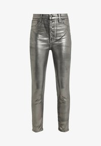 J Brand - LILLIE SUPER HIGH RISE  - Trousers - galactic silver - 4