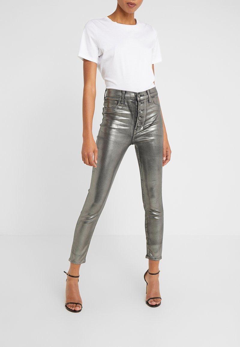 J Brand - LILLIE SUPER HIGH RISE  - Trousers - galactic silver