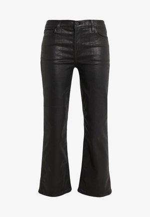 SELENA MID RISE CROP - Spodnie materiałowe - galactic black