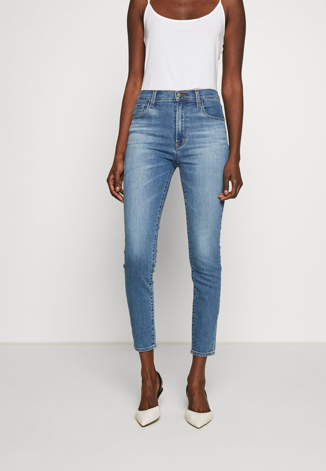 LEENAH HIGH RISE - Skinny-Farkut - blue denim