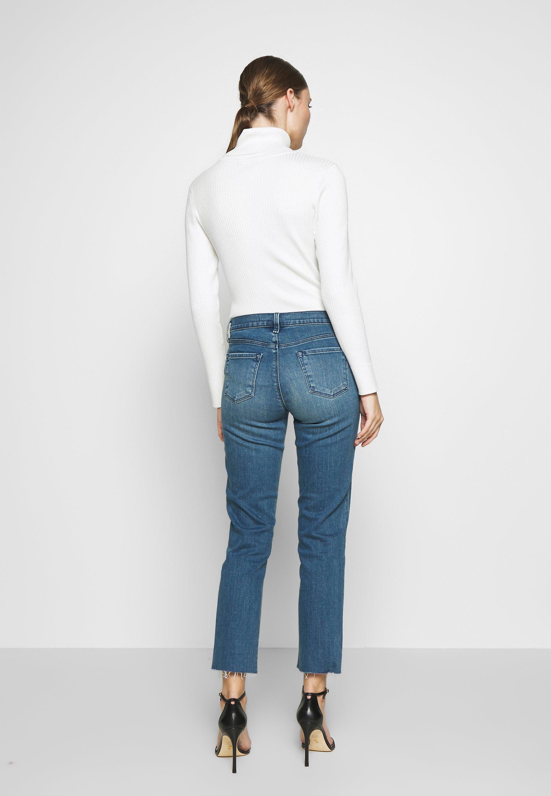 J Brand ADELE MID RISE - Jeansy Straight Leg - sorority raze