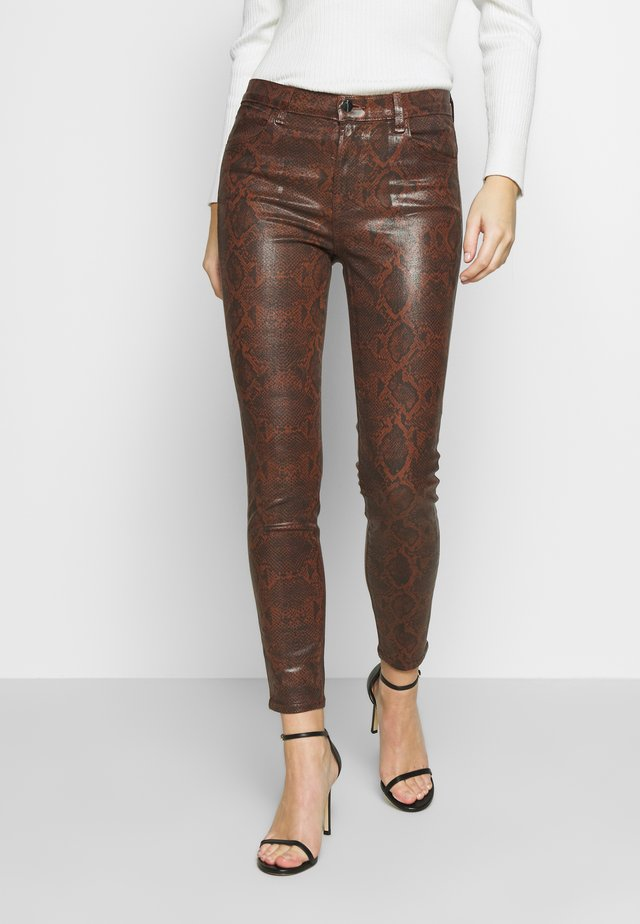 ALANA HIGH RISE CROP - Jeans Skinny Fit - dark eclair
