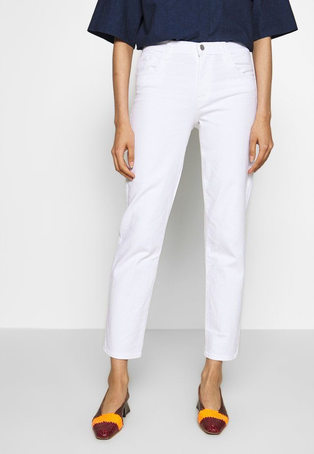ADELE RISE - Jeansy Straight Leg - white