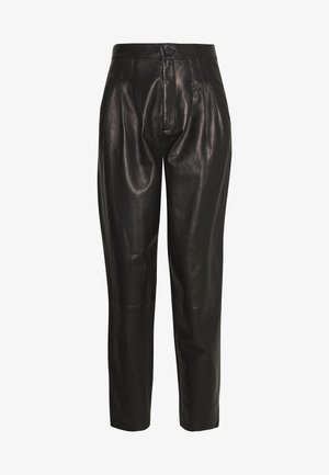 NILA PLEATED TROUSER - Straight leg jeans - black
