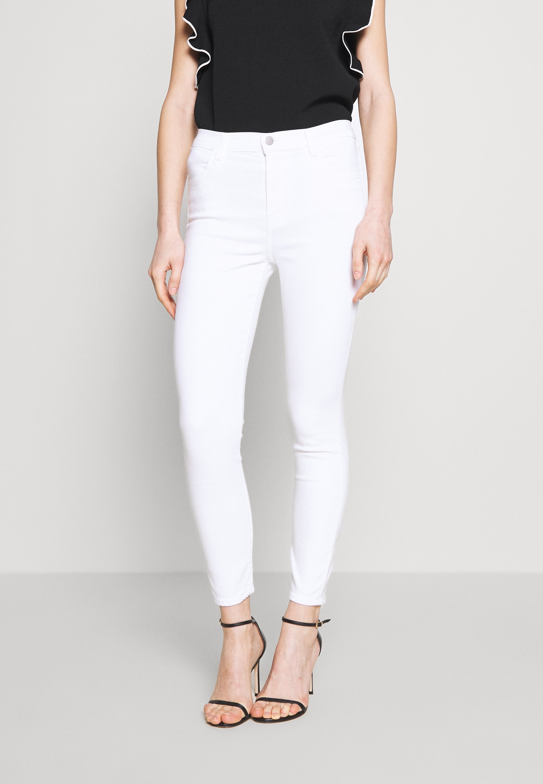 J Brand ALANA HIGH RISE CROP  - Jeansy Skinny Fit - blanc