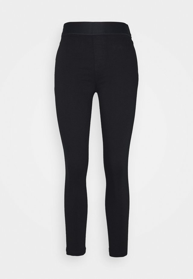 DELLAH HIGH RISE - Jeggings - seriously black