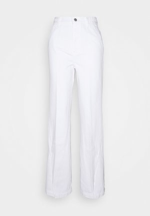 BRAIDED TROUSER JOAN - Jeansy Dzwony - braided white