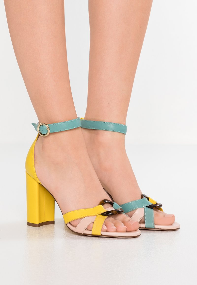 J.CREW - STELLA WITH TORT BUCKLE - High heeled sandals - sunwashed pink