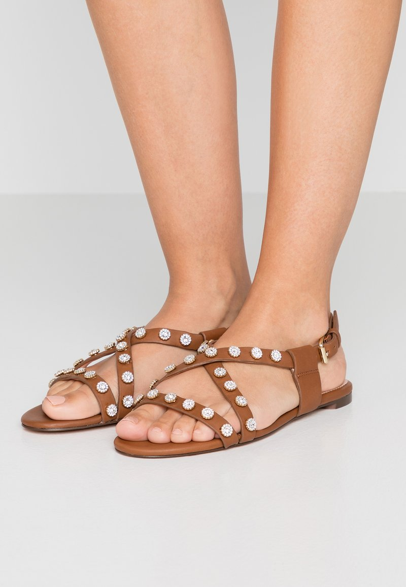 J.CREW - STRAPPY BUCKLED CORA WITH STUDS - Sandals - burnished pecan