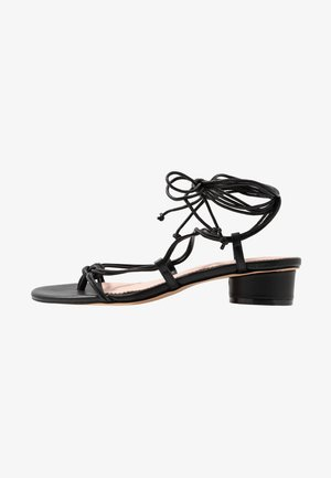 LACE UP STRAPPY ALYSSA - Sandalias - black