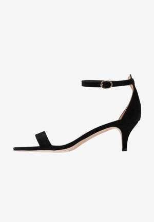 BASIC KITTEN HEEL - Sandalias - black