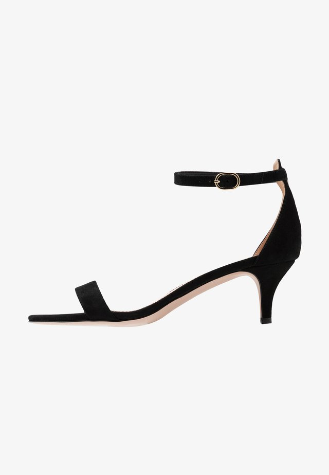 BASIC KITTEN HEEL - Sandały - black