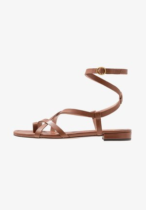 TOE STRAPPY LUCY  - T-bar sandals - warm sepia