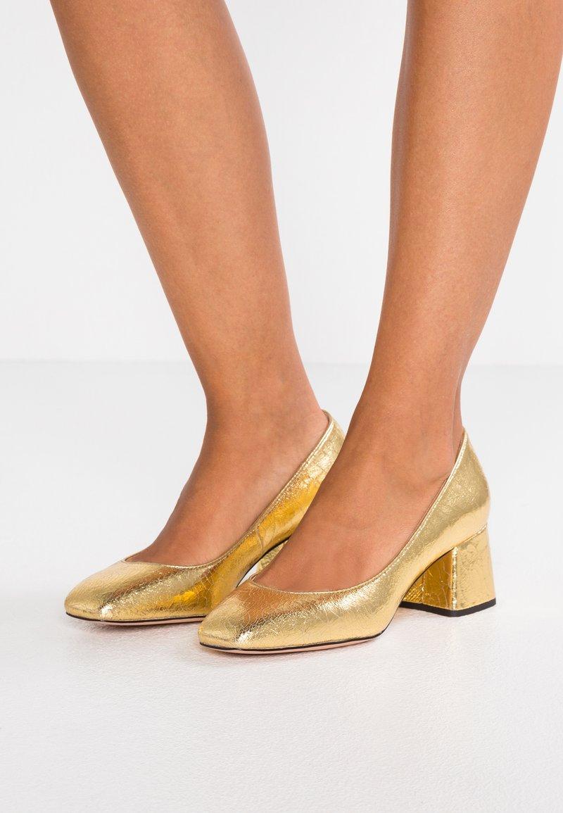 J.CREW - CELIA - Classic heels - metallic gold
