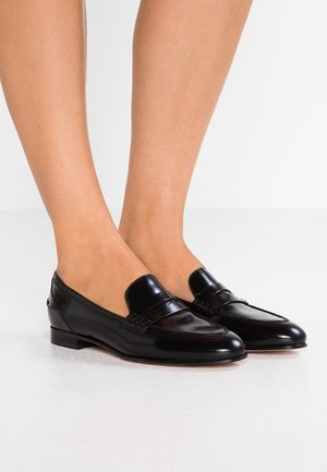 ACADEMY PENNY LOAFER - Slippers - black