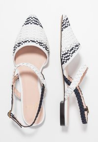 J.CREW - MARINA WITH ANKLE STRAP - Sandály - ivory/navy/silver - 3