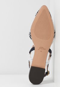 J.CREW - MARINA WITH ANKLE STRAP - Sandály - ivory/navy/silver - 6